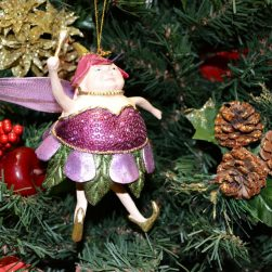 Plum Fat Fairy Christmas Ornament