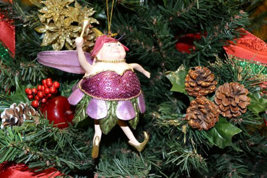 Plum Fat Fairy Christmas Ornament