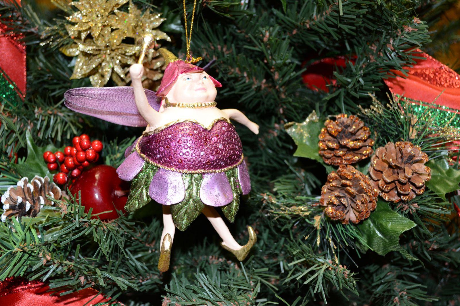 Fairy Christmas Ornaments.Plum Fat Fairy Christmas Ornament