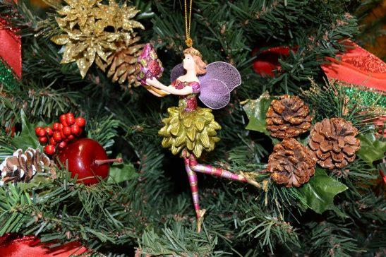 Carnation Angel Christmas Ornament