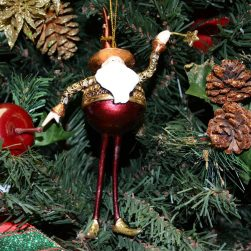Gold Santa Christmas Ornament