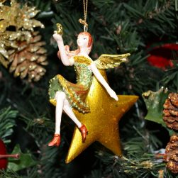 Angel Christmas Ornament on gold star