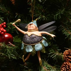 Fat Fairy Christmas Ornament Blue Berry