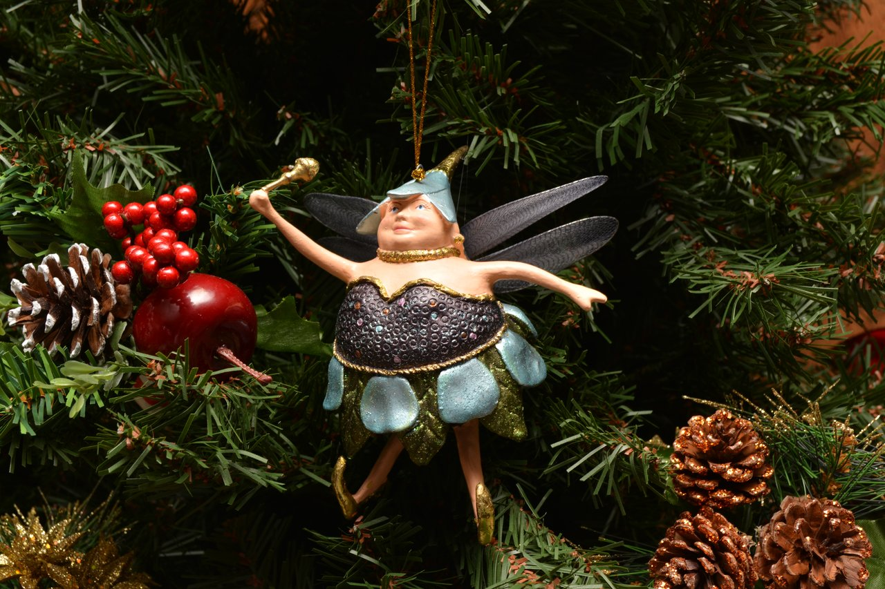 Blueberry Fat Fairy Christmas Ornament Ornamenttastic